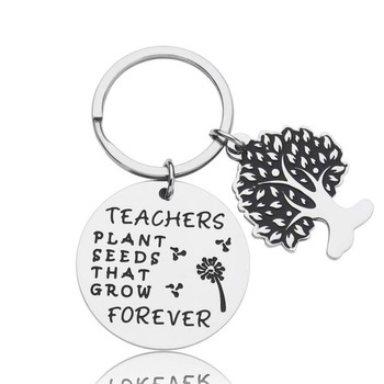 Teacher Day Gifts for Teacher Appreciation Keychain Jewelry Retirement End of Year Gift for Instructor Professor Mentors image