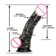9 inch Phallus Big Black Dildo Realistic Penis Sex Toys For Women Huge Faloimitator With Suction Cup Erotic ProductS for Adults