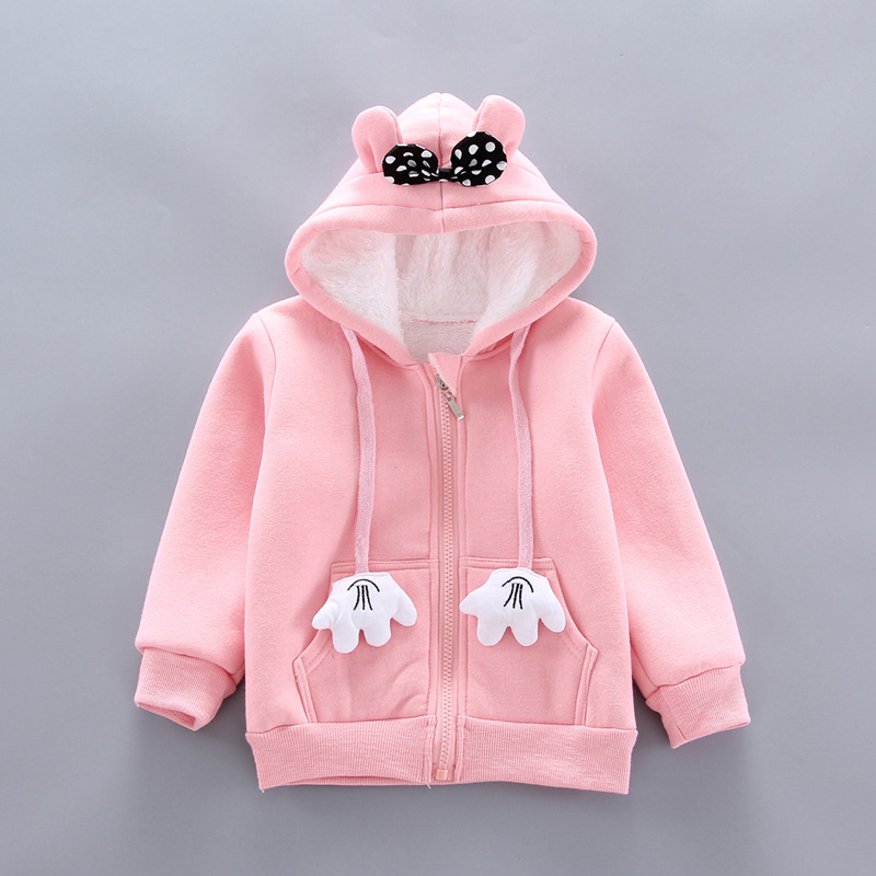 Thick Warm Girls Clothing Set Winter Plush Cotton Outfit For Baby Hoodies Jacket Pants Kids Casual Suit Toddler Boy Wearing 6