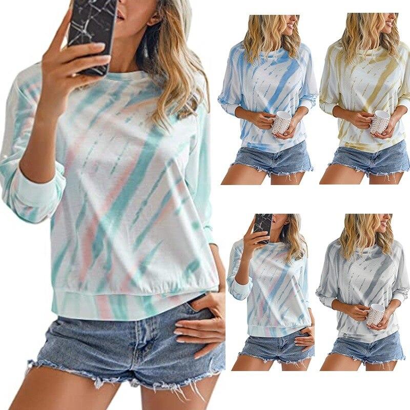 Женская футболка с длинным рукавом и круглым вырезом Повседневная