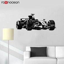 Car Auto Racing Body Shop Wall Sticker Vinyl Home Decor Interior Murals Kids Room Decals Drift Formula One Wallpaper 3661