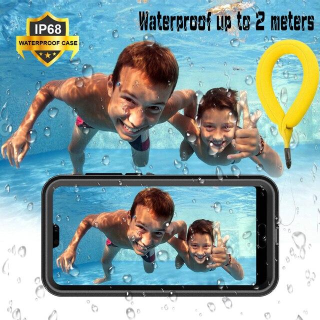 P30pro p40 pro caso à prova dwaterproof água funda huawei p30 pro caso 360 proteger escudo para huawei p20 lite caso p30 lite à prova de água capa