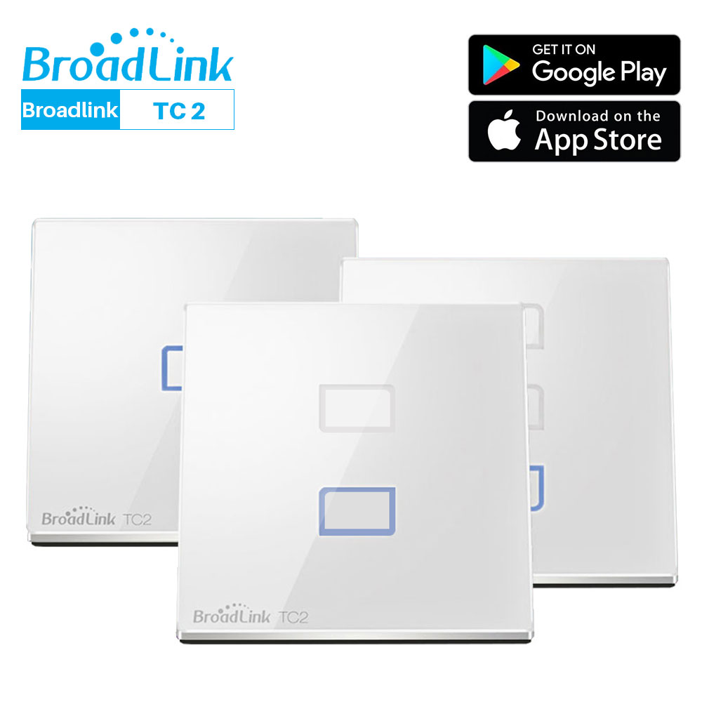 Broadlink TC2 WiFi Switch EU Standard Smart House Wall Light Touch APP Control Via RM Pro Home Automation