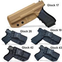 BBF Make IWB Тактический KYDEX пистолет кобура Glock 19 17 25 26 27 28 43 22 23 31 32 Внутри Скрытого Ношения кейс для пистолета аксессуары