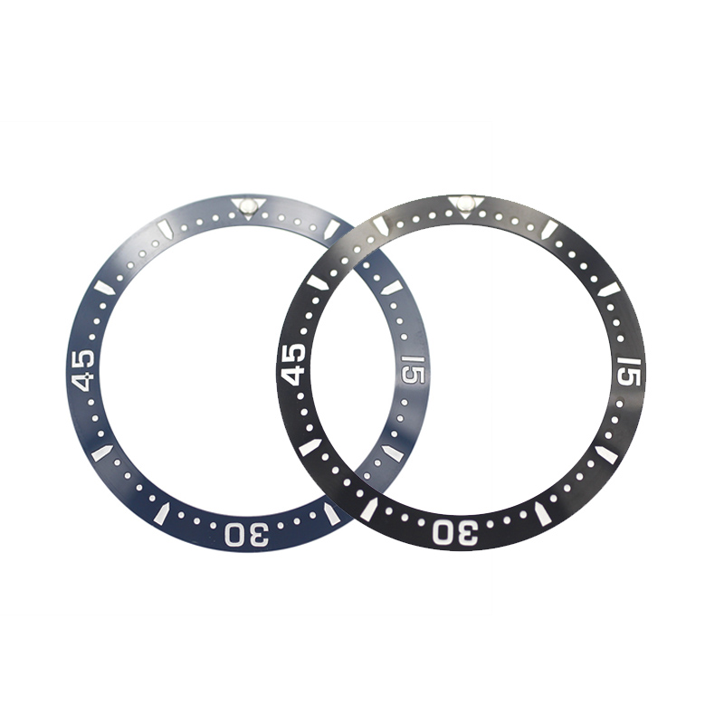 New 38mm High Quality Black/Blue Ceramic Bezel Insert For SKX007 SKX009 CONQUEST Sub Divers Men's Watches Replace Accessories