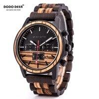 DODO DEER Wood Watch Men Stopwatches Handmade Relogio Masculino Japan Movement Quartz Wristwatch Gift for Male erkek kol saati|Quartz Watches| |  -