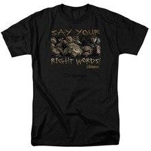 Labirinto dizer suas palavras certas t-shirts novos tamanhos xs a 3xl