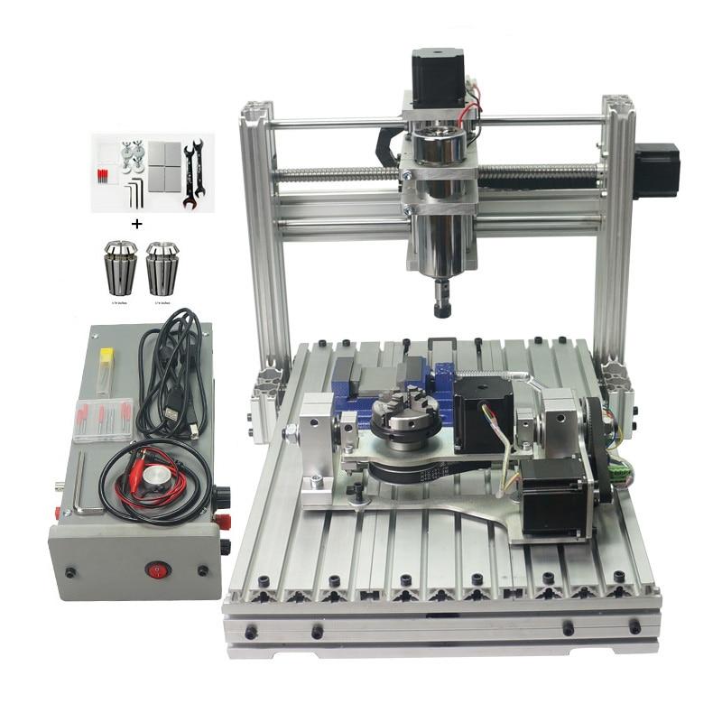 CNC Gravador Fresadora DIY 3040 PCB Escultura Em Madeira Gravura Porta USB Com ER11 Mach3 Roteadores Madeira CNC 4030 Marcenaria