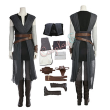Rey костюм Звездные войны последний джедай Косплей Полный комплект