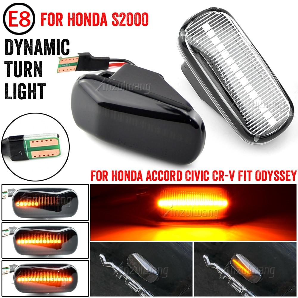 Luces LED de posición lateral señal lámpara para Honda CRV Acuerdo Cívico de la ciudad de ajuste Jazz corriente HRV S2000 odisea Integra Acura RSX NSX