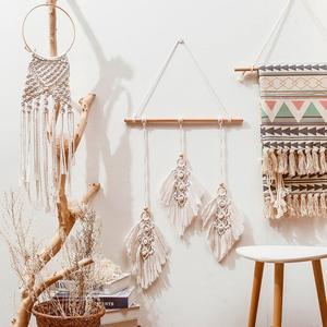 Nordic Leaf Hand Woven Tapestr