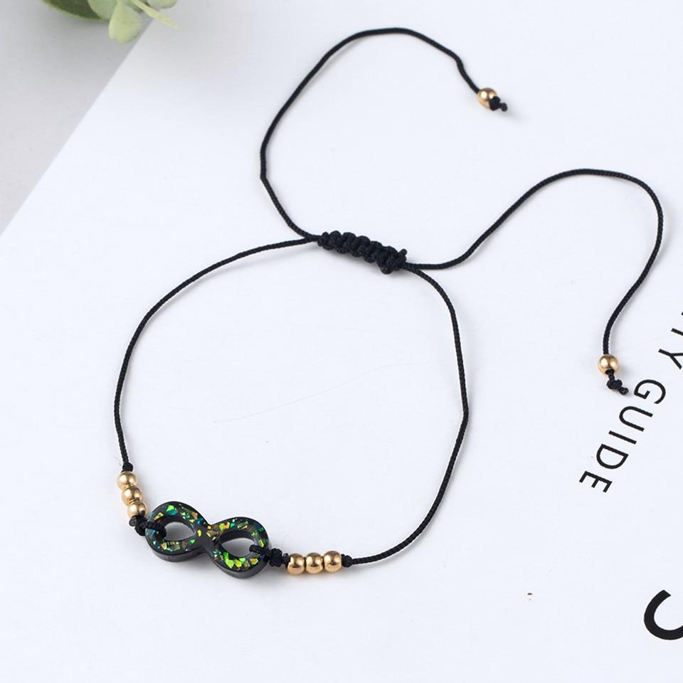 Boho Ankle Bracelet Bohemian Colorful Heart Beads Jesus Cross Turtle Butterfly Infinity Triangle Anklet Women's Leg Bracelet (41)