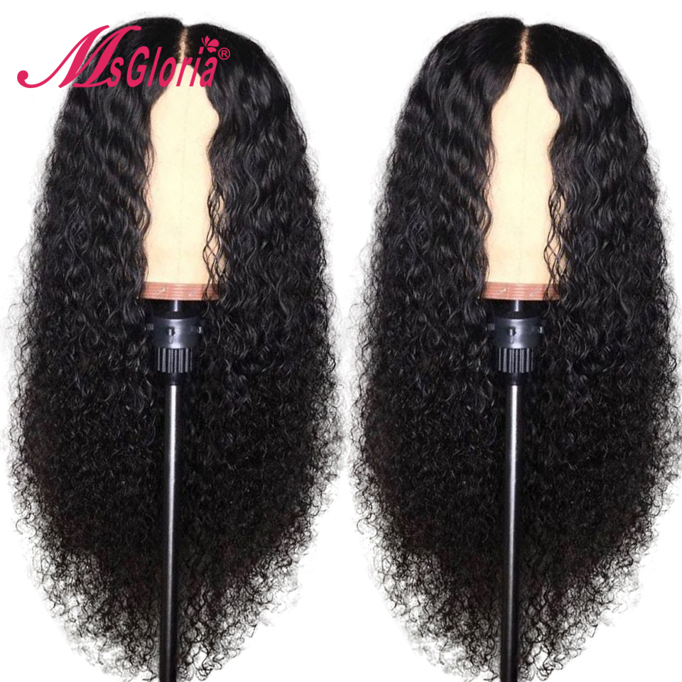 Curly Jet Black Human Hair Wigs For Women With Baby Hair 13x4 Lace Front Human Hair Wigs Malaysian Remy Hair Wig Pre-Plucked 130