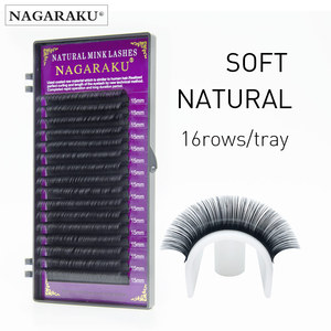 Image 2 - Nagaraku Alle Size 50 Gevallen Wimpers Extension Voor Enten Natuurlijke Lange Wimpers Met Hoge Kwaliteit Van Synthetische Nertsen Materiaal