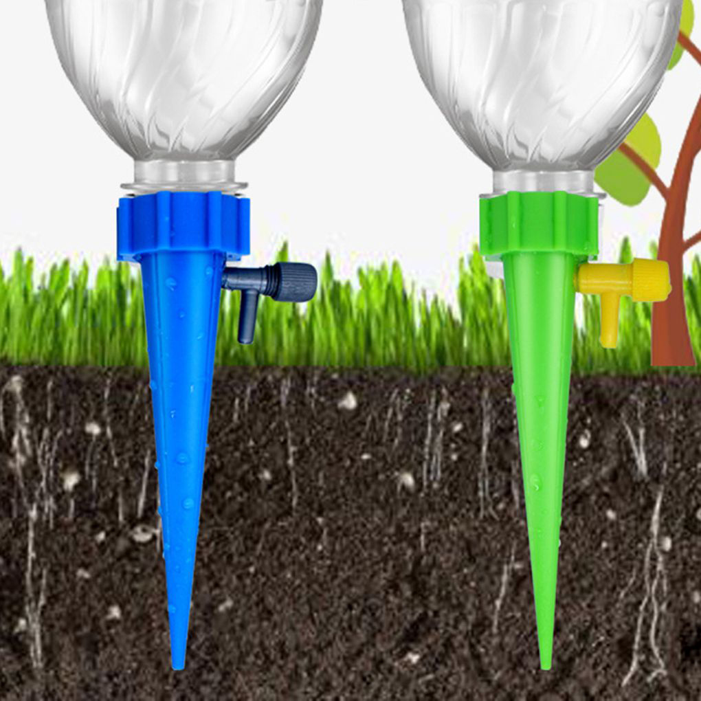 1/2/4/6/8/10pcs Drip Irrigation System Plant Waterers DIY Automatic Drip Water Spikes Taper Watering Plants House Plant Watering