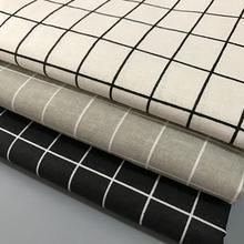 50x150 см, клетчатая льняная ткань, ткань с принтом, швейные стеганые ткани для лоскутного шитья, Рукоделие, сделай сам, материал ручной работы, 1Yc3293