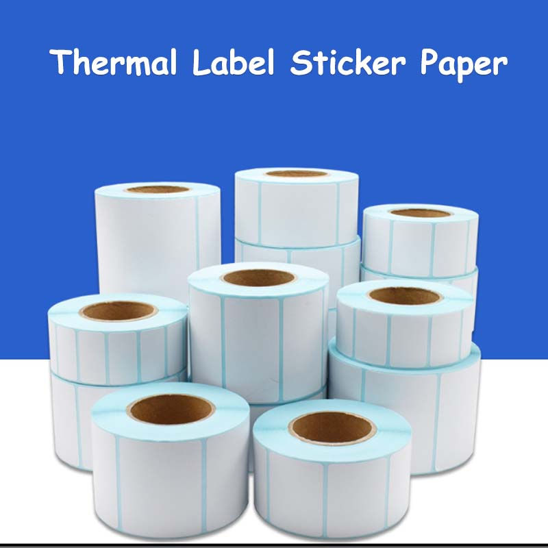 Thermal Label barcode Sticker 40mm Core 1 Roll Width 20mm ~200mm Waterproof PrintTop Thermal Paper Adhesive Stickers Zebra