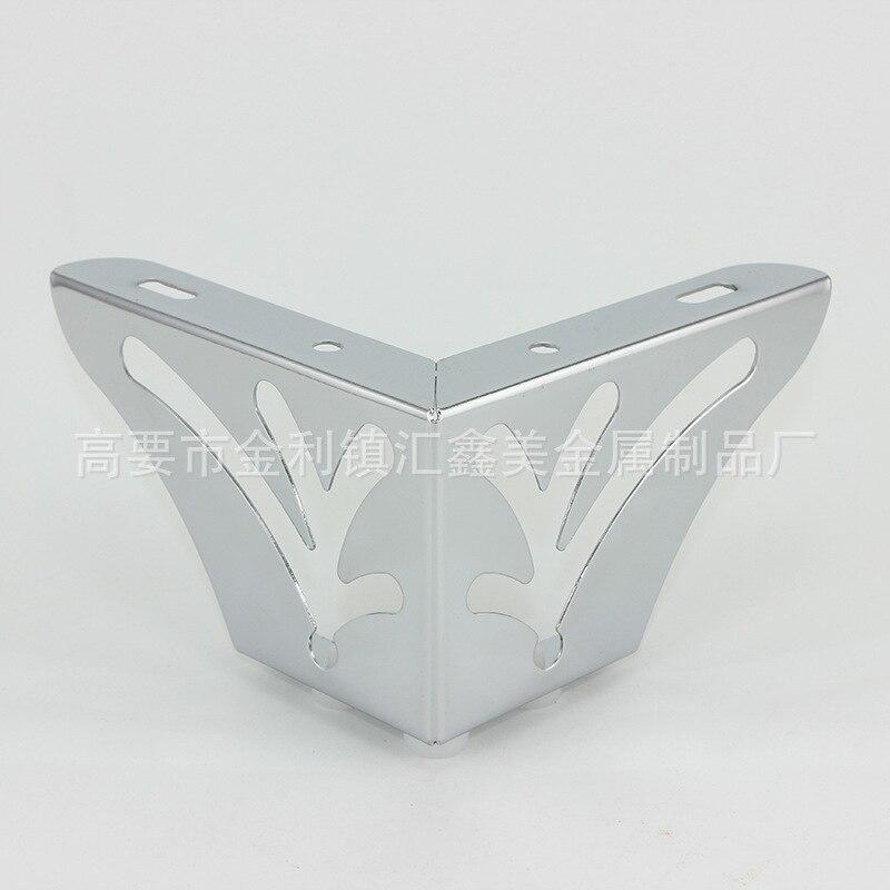 4pcs Metal Furniture Legs Square Sofa Foot Table Rubber Foot Furniture Bed Riser Furniture Accessories 13.5cm