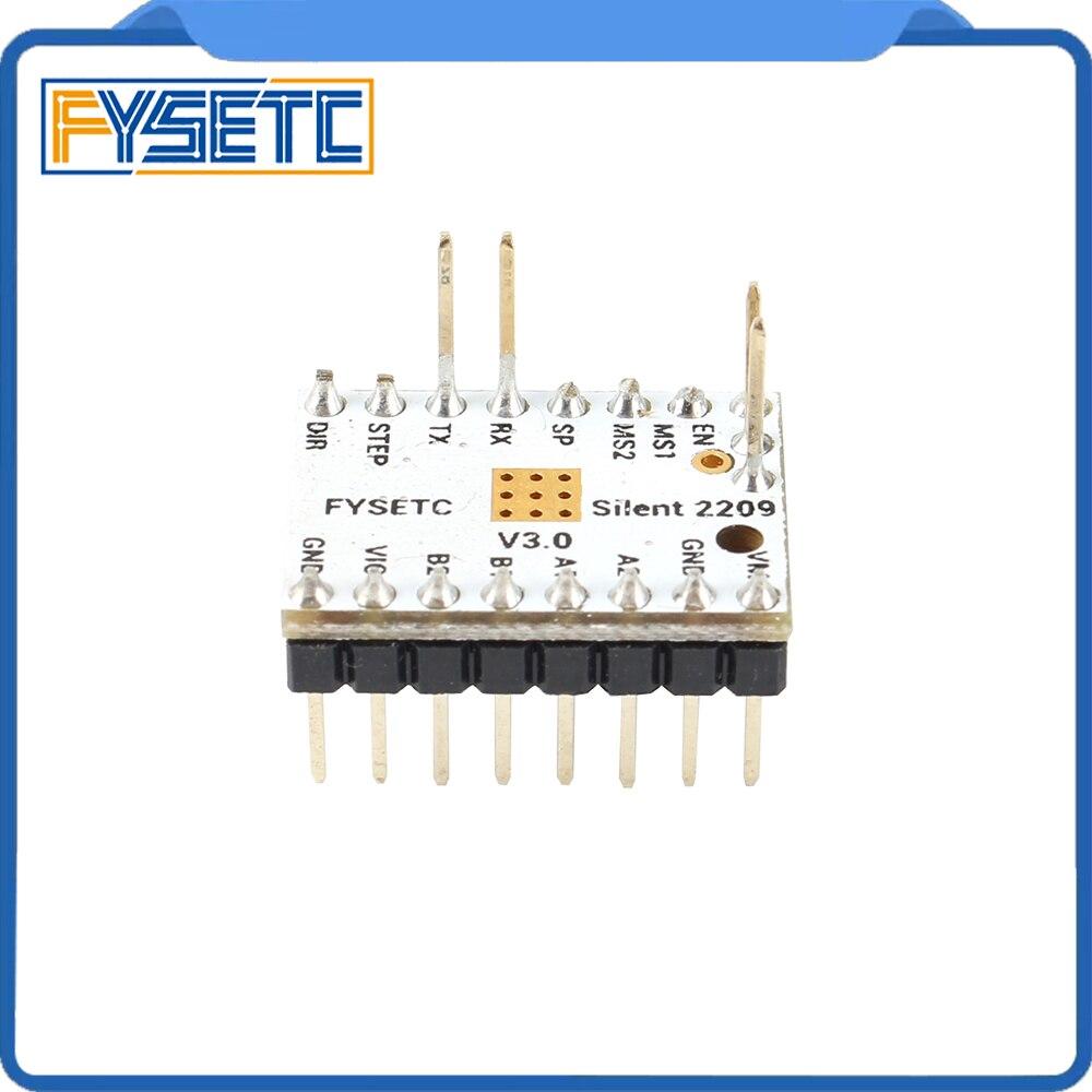 Image 4 - 4pcs TMC2209 v3.0 Stepping Motor Driver 3d Printer Parts  Stepsticks Mute Driver 256 Microsteps Current 2.8A Peak VS TMC22083D  Printer Parts