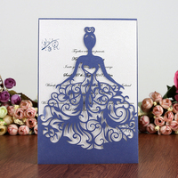 25 Pcs/set Wedding Invitation Card Cover Pearl Paper Laser Cut Hollow Heart New