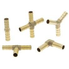 Raccord de tuyau barbe en laiton 2, 3, 4 voies, pour tuyau de 4mm 5mm 6mm 8mm 10mm 12mm 16mm 19mm, raccord de Tube d'eau pagode en cuivre