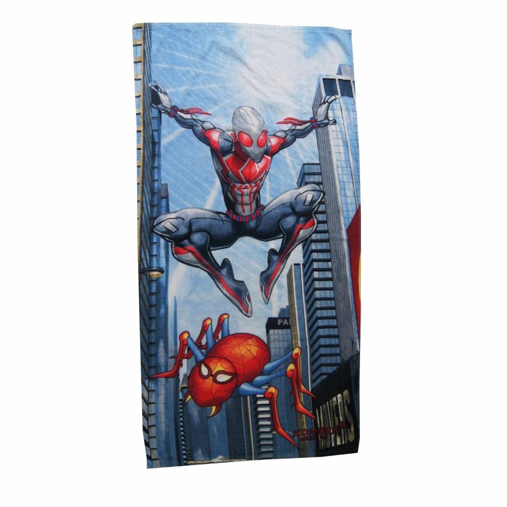 Spiderman Cotton Beach Bath Towel for Children Boys Girls Teenagers Summer Swimming Pool Shower Towels 70X140cm