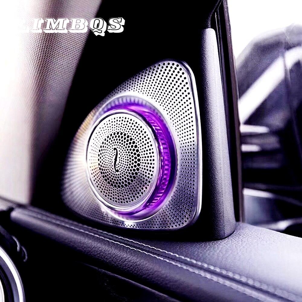 Altavoz de agudos con luz ambiental para coche, altavoz de agudos con lámpara LED, para Mercedes Benz W205 Clase C, 3/12/64 colores