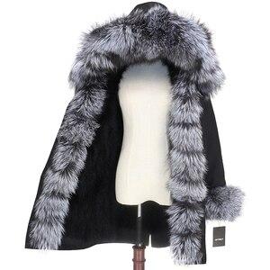 Image 3 - OFTBUY 2020 wodoodporna odzież wierzchnia prawdziwe futro długa kurtka zimowa Parka kobiety naturalne futro lisa kaptur Streetwear odpinany marka