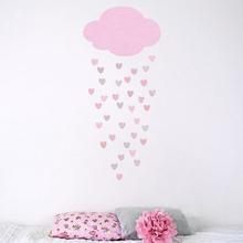 Наклейка на стену набор наклеек Дождь сердца наклейки на стену спальни Декор украшение дома