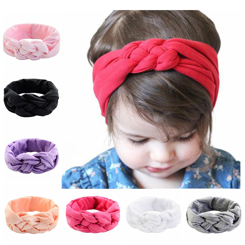 1Pcs Cute Baby Girl Headbands Knitted Newborn Baby Bows Haarband Turban Infant Head Bands Hairbands For Girls Hair Accessories