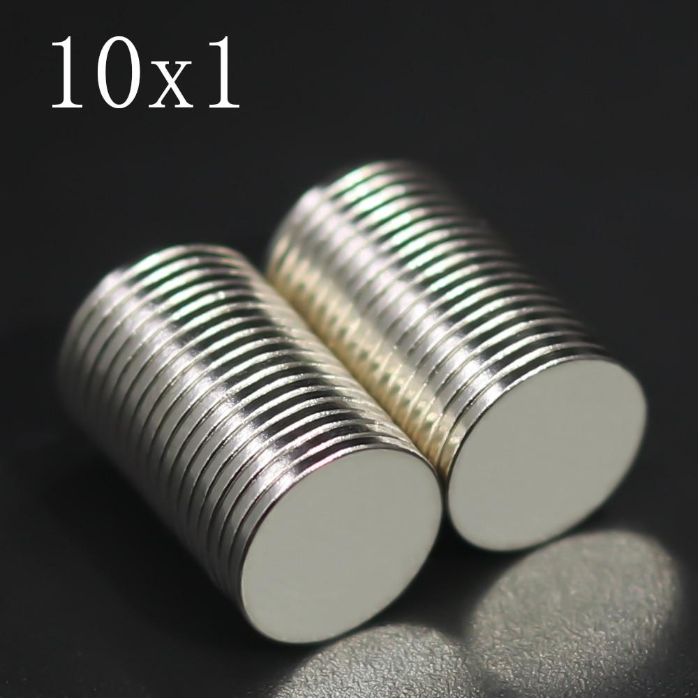 20/50/100/200/500 шт 10x1 неодимовый магнит 10 мм x 1 мм N35 неодим-железо-боровые виток супер мощный сильный постоянный магнетический imanes диск 10x1