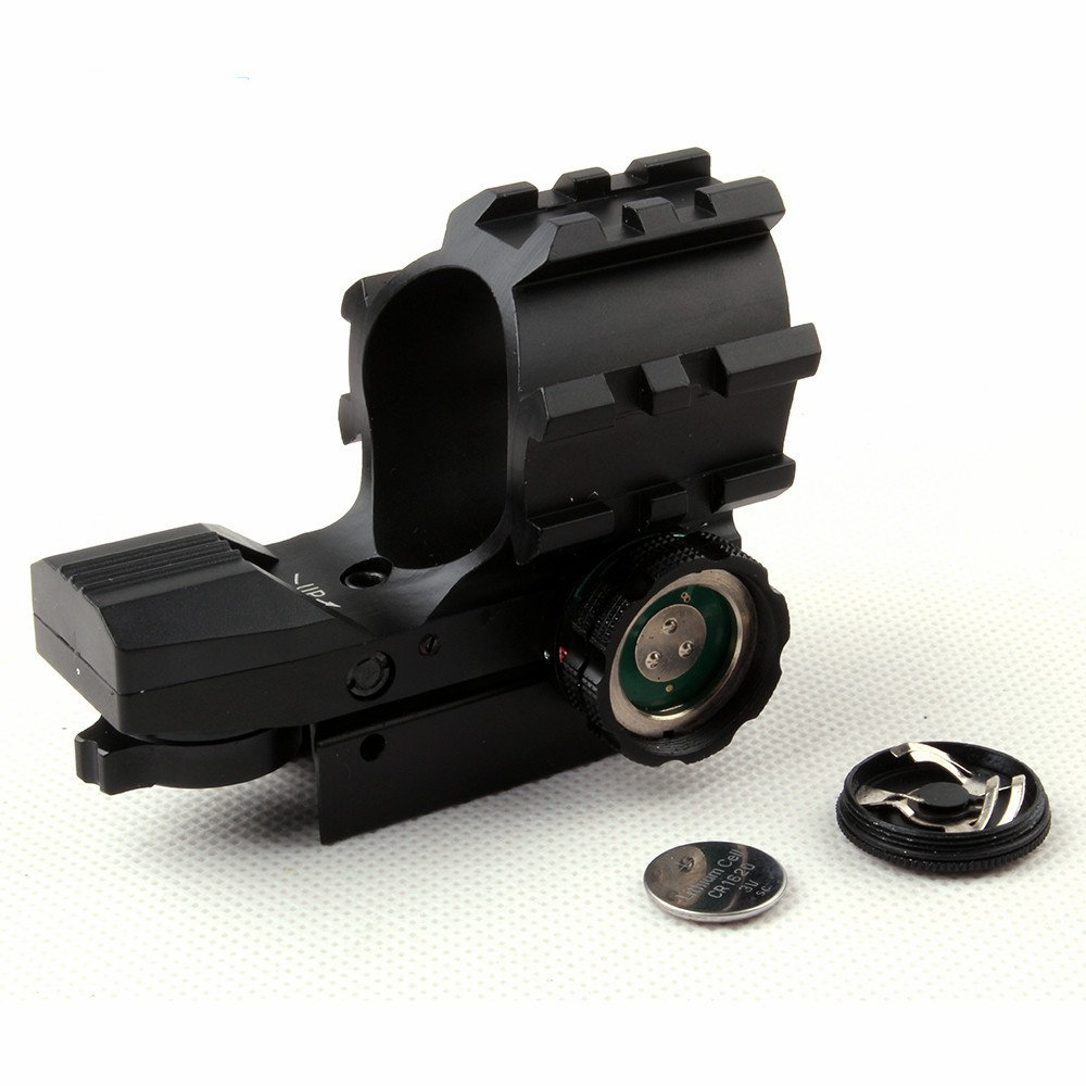 Tactical  1X33 Red And Green Dot Reflex Hunting Sight Scope Four Reticle With 20mm Tri Weaver Rails For Airsoft