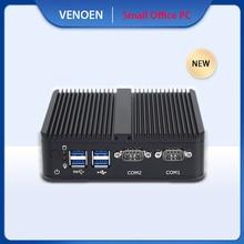 Tiny HTPC Desktop Computer Intel Celeron J4105 HDMI VGA 4K Display Mini PC 2 RS232 COM DDR4 Mini PCI E Wifi BT4.0 TV Box Windows
