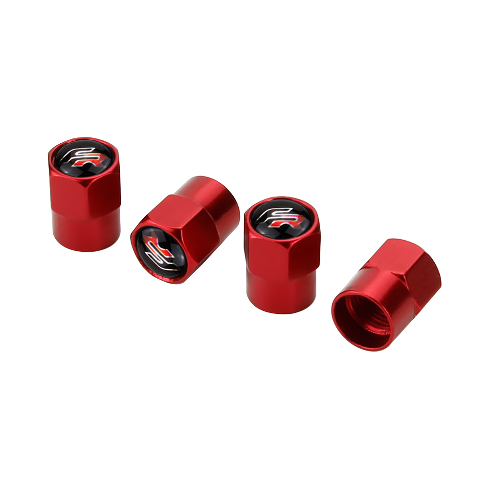 4PCS/Set <font><b>Car</b></font> <font><b>Wheel</b></font> Tire Valve Stem Air Caps For <font><b>Seat</b></font> <font><b>Leon</b></font> FR <font><b>Altea</b></font> Ibiza Toledo Cordoba Alhambra Arona Ateca Exeo Auto Styling image