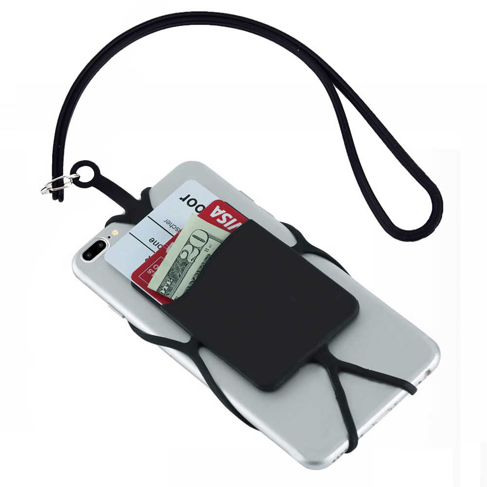Oukitel Y4800 6.3 inç Silikon Kauçuk Kart Durumda Cep Telefonu Kabuk Kadın erkekler Banka kart tutucu Kapak Samsung Galaxy a20e