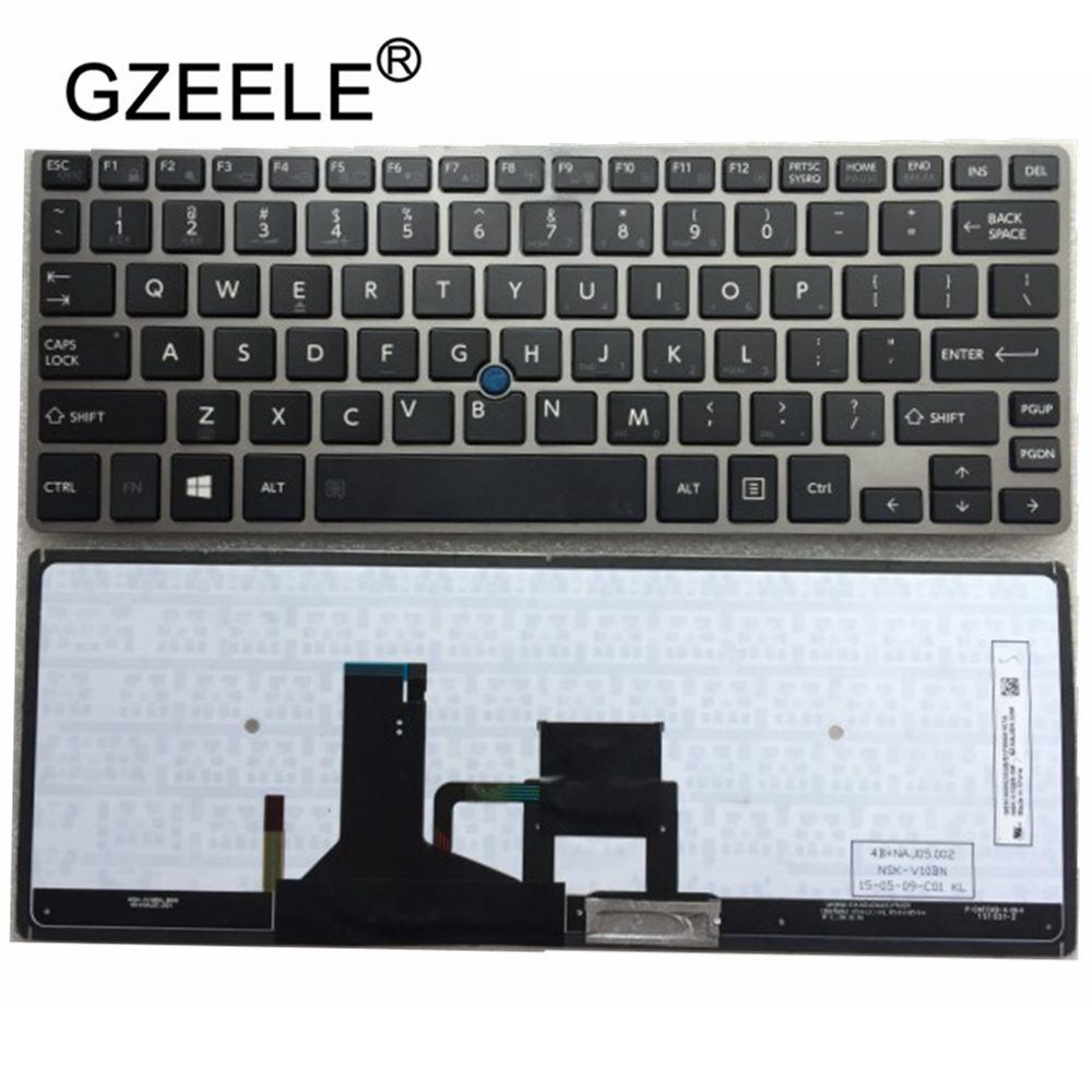 GZEELE New Laptop Keyboard For Toshiba Portege Z30-A Z30-B Z30-C Z30T-B Z30T-A Satellite Z30-A Z30t-A QWERTY US Keyboard
