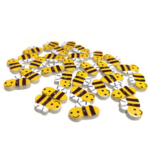 10pcs Little bee Wood Sewing Button Scrapbooking Garment Clothes DIY wood button Two Holes