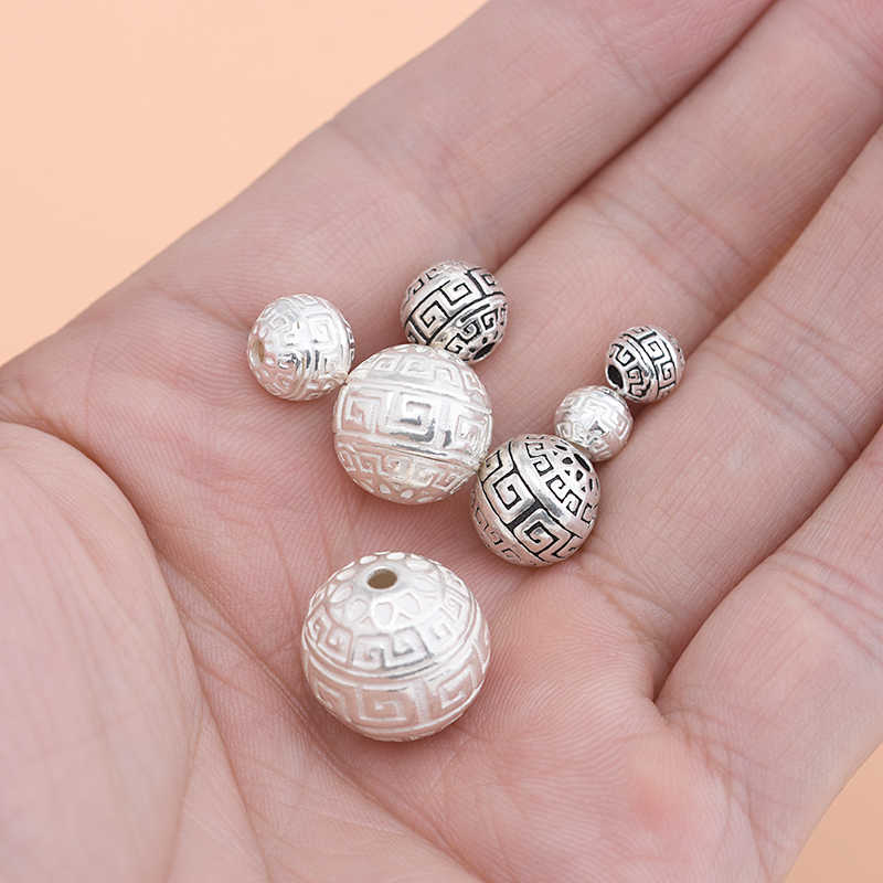 Fatti a mano di Perline Materiale Accessori Dei Monili 925 Sterling Silver Modello Bead per Monili Che Fanno
