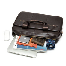 Bag Luxury Computer-Case Messenger-Bags Document-Working-Bag Business Men's Genuine-Leather