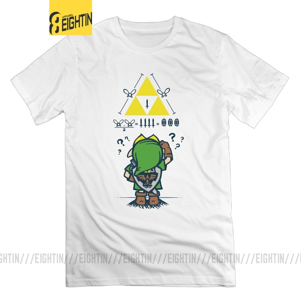 The Legend Of Zelda T Shirt A Link To The Math 100% Cotton Print Men's T-Shirt O Neck Short Sleeves Plus Size Tees