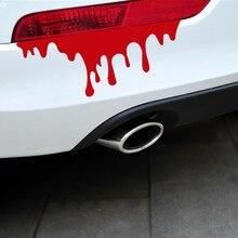 Auto voiture autocollants rouge sang bricolage véhicule carrosserie emblème Badge voiture style autocollant bâches de voiture personnalité voiture lumière voiture accessoires