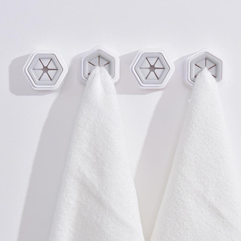 1PCS Convenient Kitchen Storage Hooks Washing Cloth Hanger Rack Towel Holder Sucker Wall Window Bathroom Tool Random Color