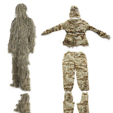Jungle burr suit hunting bird watching stealth auspicious suit camouflage suitsniper camouflage Tactical clothing  For hunting