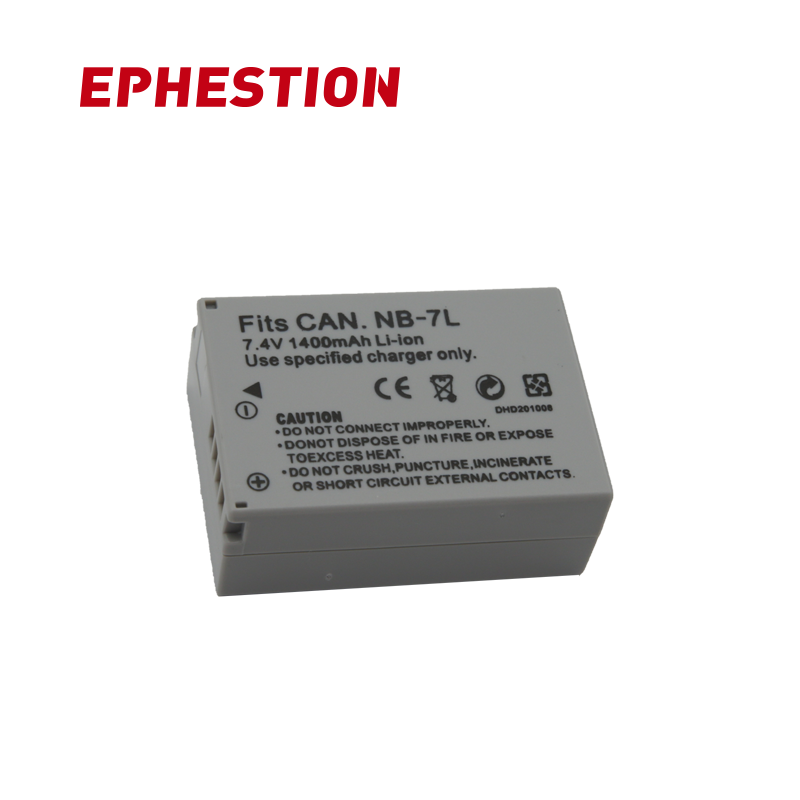 EPHESTION NB-7L NB7L NB 7L Battery For Canon G10 G11 G12 SX30 SX30IS Camera Batteries High Capacity Rechargeable Li-ion Battery