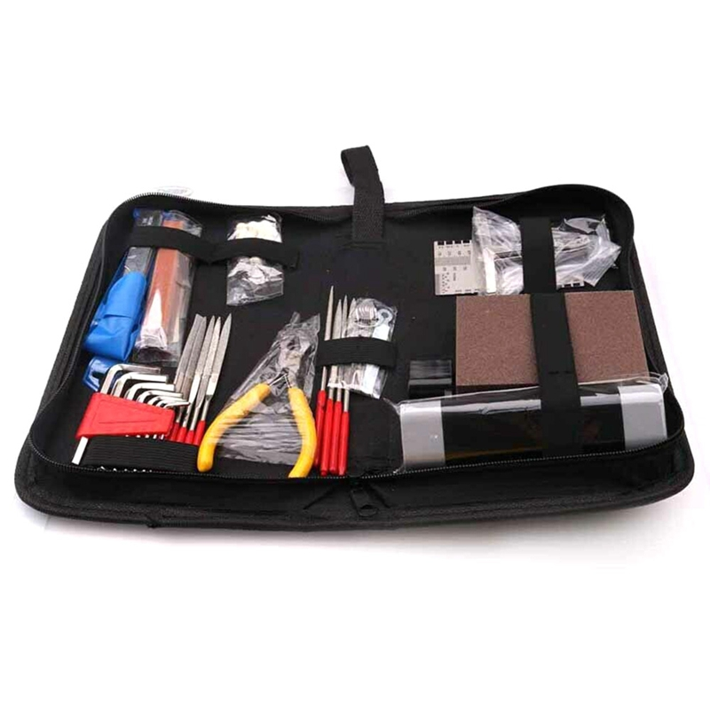 33 Pcs Guitar Care Tool Kit Luthier Setup Repair Maintenance Tools Wrench Set