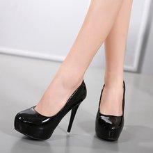 Туфли женские из лакированной кожи на высоком каблуке 12 см