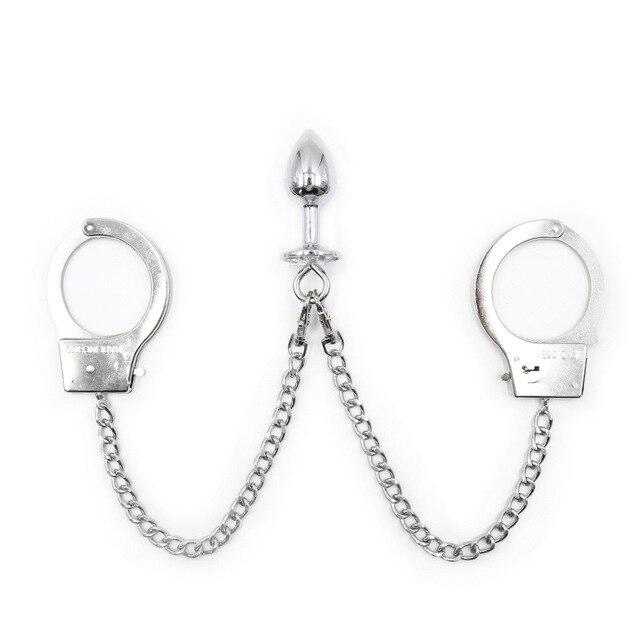 Sex zabawki liny Bondage kajdanki łańcuch korek analny żelazo Metal z nowym dorosłych dla kobiet pary Bdsm prawdziwe drzwi wyściełane akcesoria