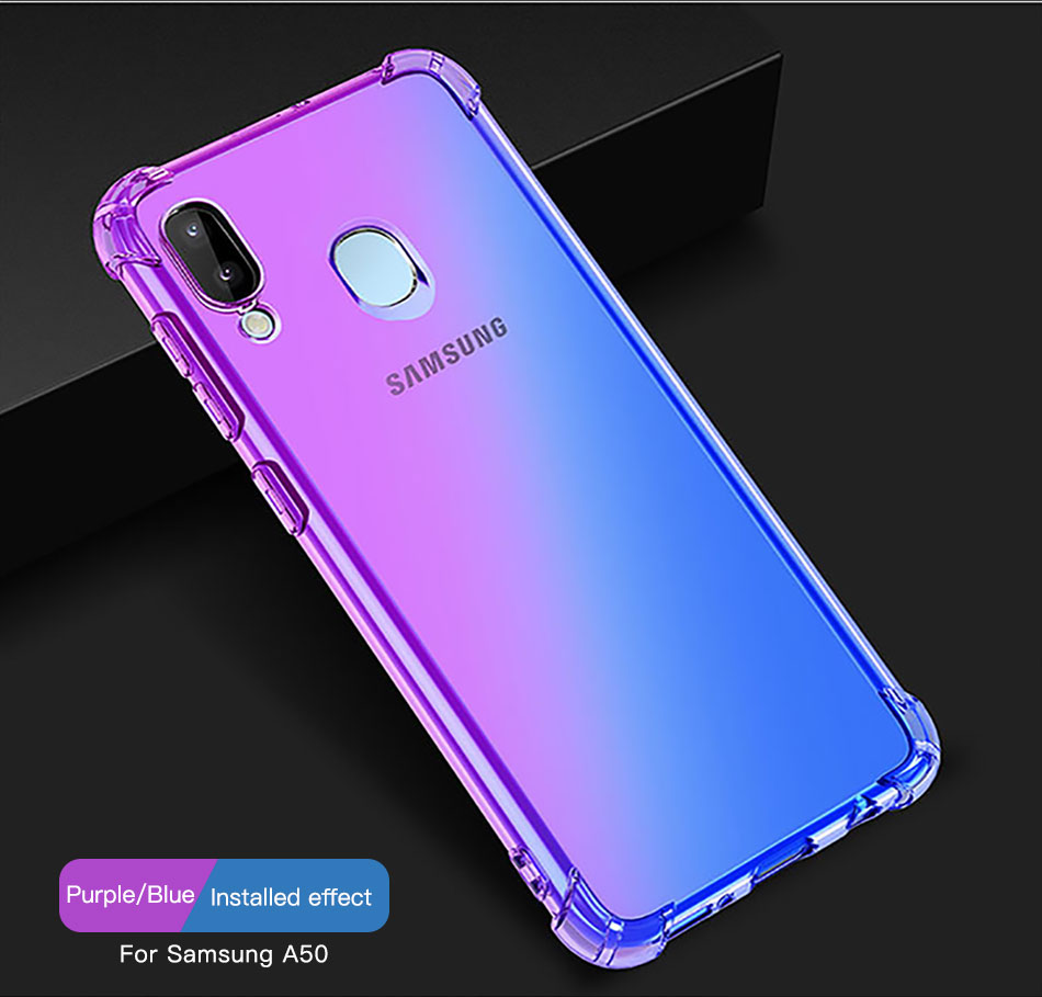 !ACCEZZ Colorful For Samsung A40 A50 Soft Phone Case Protection Back Cover For Galaxy A50 A40 TPU Thin Phone Shell Fitted Case (9)