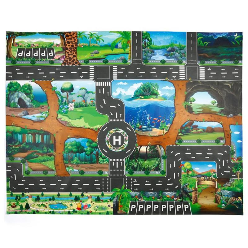 H71a404a783fc48ee993df656117bd333N City Traffic Baby Crawling mat Climbing Pad Road Carpet Playmat Rug For Cars English City Parking Lot Map Play Carpet for Baby