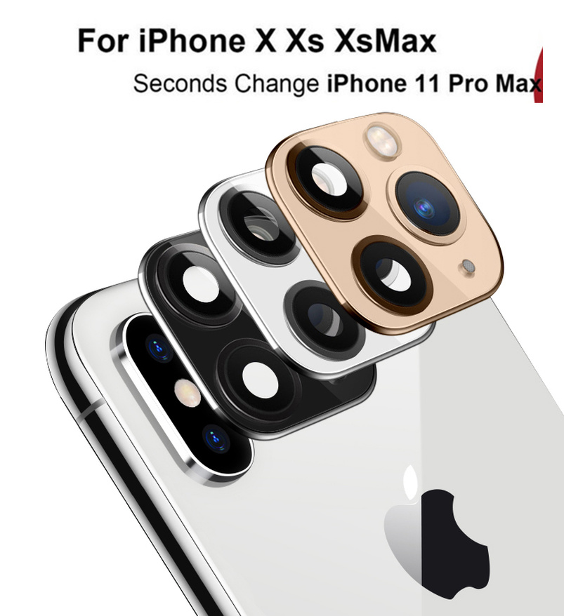 Three Generations Case For IPhone Apple X XS MAX Seconds Change For IPhone 11 PRO MAX Lens Sticker Modified Camera Len Cover